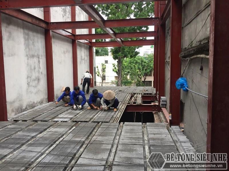 Hình ảnh nhà khung thép kết hợp sàn bê tông nhẹ Xuân Mai