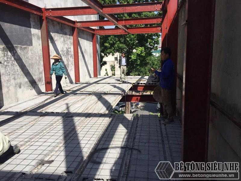 Giá thi công nhà khung thép kết hợp sàn bê tông siêu nhẹ mới nhất