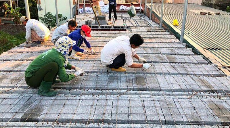 Bê Tông Siêu Nhẹ thi công công trình tại cầu Nhật Tân - Đông Anh - Hà Nội cho nhà chú T