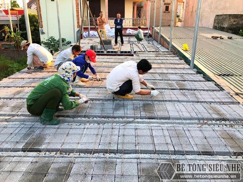 Bê Tông Siêu Nhẹ thi công công trình tại cầu Nhật Tân - Đông Anh - Hà Nội cho nhà chú Tư