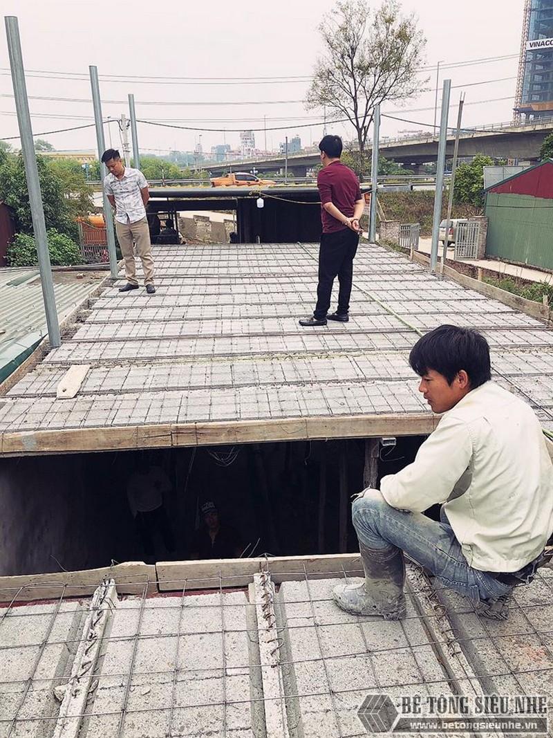 Bê Tông Siêu Nhẹ thi công công trình tại cầu Nhật Tân - Đông Anh - Hà Nội cho nhà chú Tư - 01