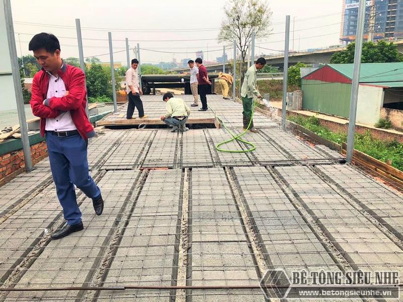 Bê Tông Siêu Nhẹ thi công công trình tại cầu Nhật Tân - Đông Anh - Hà Nội cho nhà chú Tư - 02