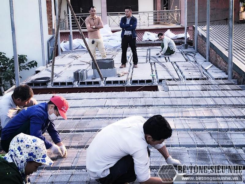 Bê Tông Siêu Nhẹ thi công công trình tại cầu Nhật Tân - Đông Anh - Hà Nội cho nhà chú Tư - 03