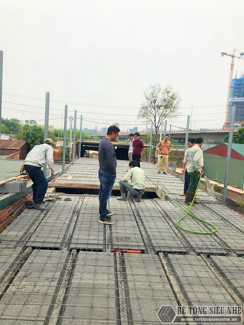 Bê Tông Siêu Nhẹ thi công công trình tại cầu Nhật Tân - Đông Anh - Hà Nội cho nhà chú Tư - 04