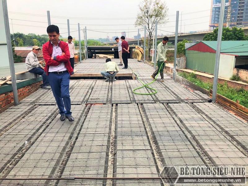 Bê Tông Siêu Nhẹ thi công công trình tại cầu Nhật Tân - Đông Anh - Hà Nội cho nhà chú Tư - 05