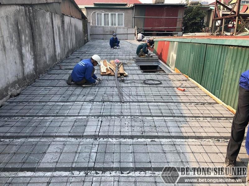 Nhanh chóng hoàn thiện công tác đan lưới thép bề mặt