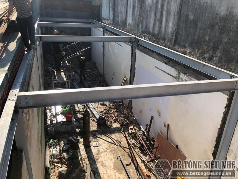 Dựng khung nhà thép tiền chế
