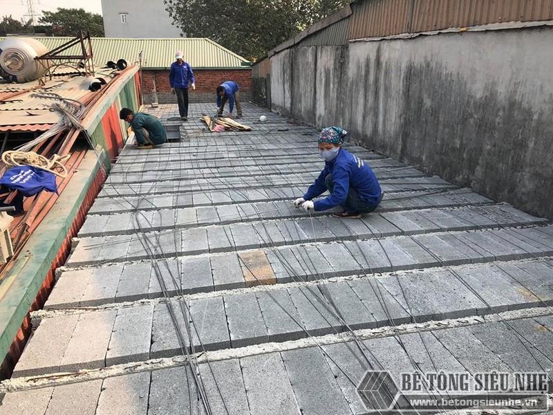 Ghép gạch block kín mặt sàn nhà