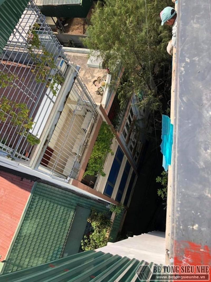 Bê Tông Siêu Nhẹ nâng cấp nhà phố bằng hệ khung thép và sàn bê tông nhẹ ở Trần Đại Nghĩa, Hai Bà Trưng cho nhà chú Phái - 02