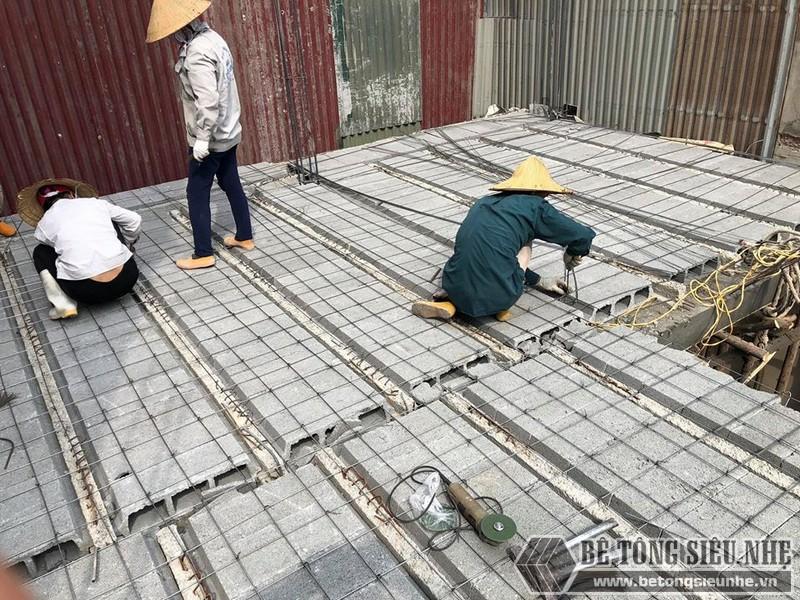 Bê Tông Siêu Nhẹ đan lưới thép cho công trình 310 Nghi Tàm, Tây Hồ - 02