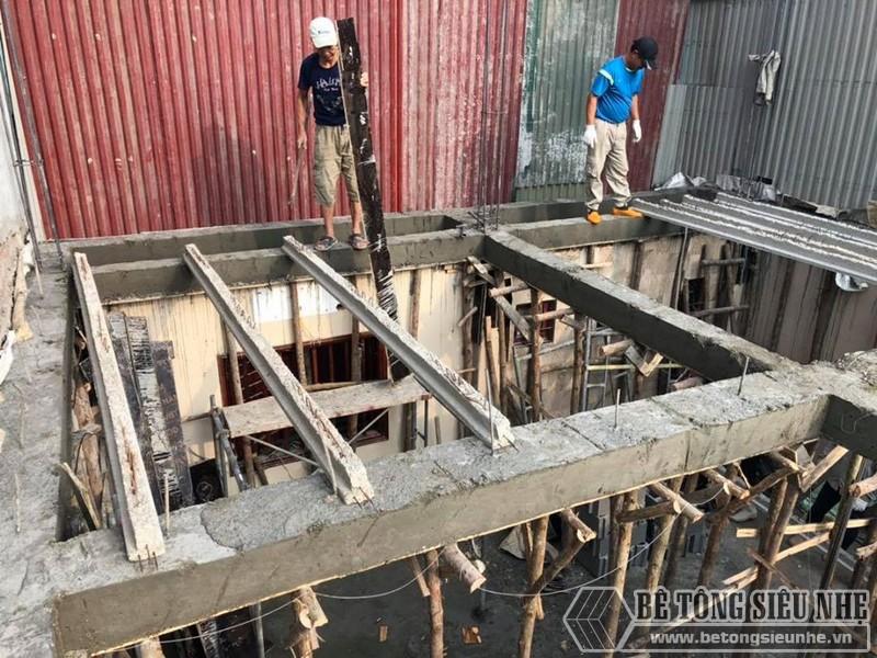 Bê Tông Siêu Nhẹ thi công sàn bê tông nhẹ tại Tây Hồ, ngõ 310 Nghi Tàm cho nhà anh Tiêu - 01