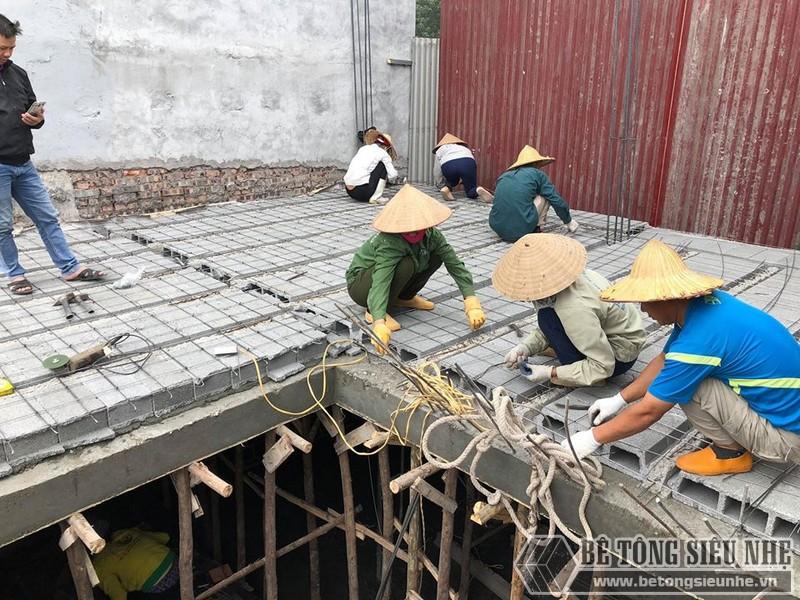 Bê Tông Siêu Nhẹ ghép gạch block cho công trình 310 Nghi Tàm, Tây Hồ