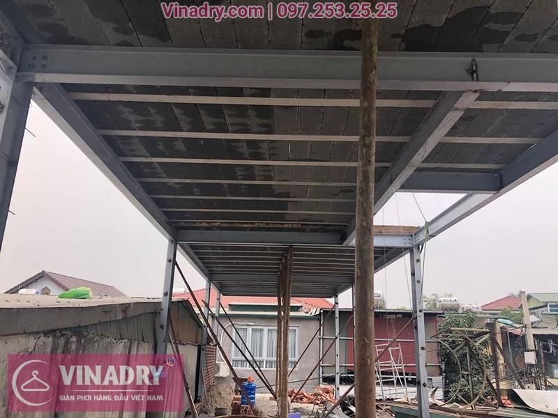Công trình nhà khung thép và sàn bê tông siêu nhẹ tại Vĩnh Tuy, Hai Bà Trưng, Hà Nội