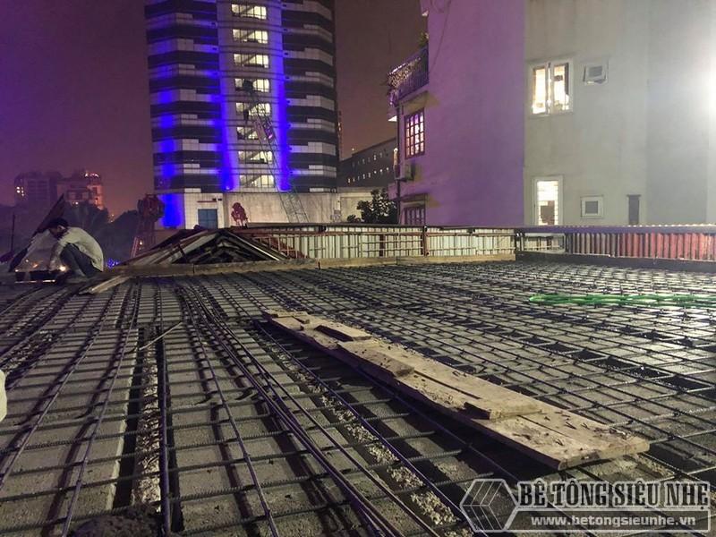 Xây nhà dân dụng thâu đêm bằng khung thép tiền chế và sàn bê tông nhẹ tại Yên Hòa, Cầu Giấy, Hà Nội - 02