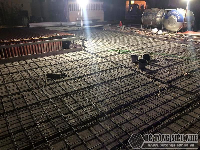 Xây nhà dân dụng thâu đêm bằng khung thép tiền chế và sàn bê tông nhẹ tại Yên Hòa, Cầu Giấy, Hà Nội - 03