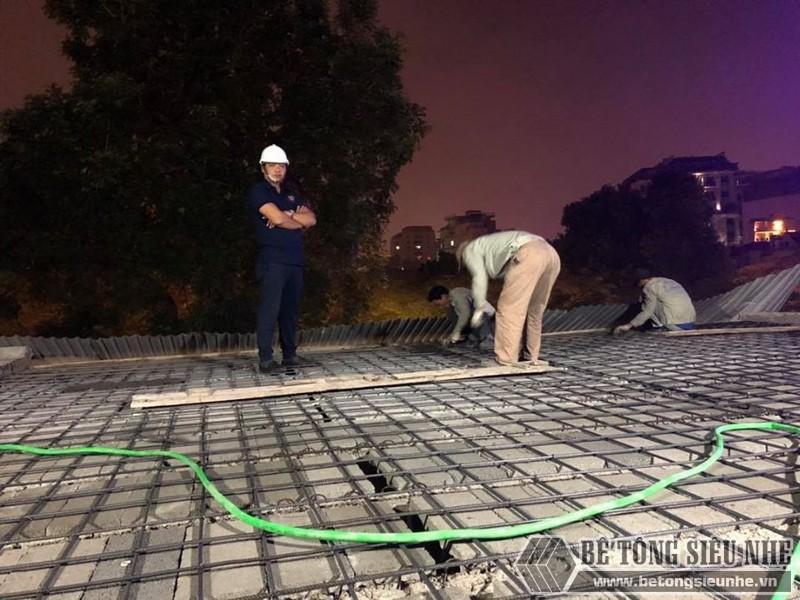 Xây nhà dân dụng thâu đêm bằng khung thép tiền chế và sàn bê tông nhẹ tại Yên Hòa, Cầu Giấy, Hà Nội - 07