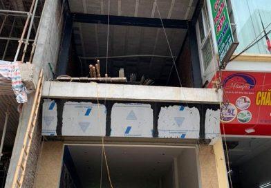 Thi công nhà khung thép kết hợp với sàn bê tông siêu nhẹ nhà anh Nam, Thường Tín, Hà Nội