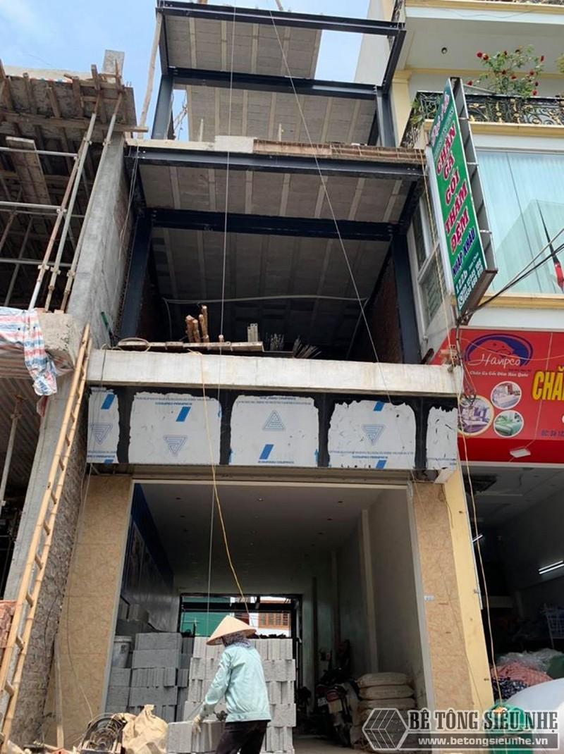 Công trình nhà khung thép và sàn ghép bê tông nhẹ nhà anh Nam ở Thường Tín, Hà Nội
