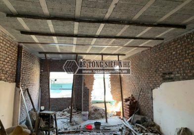 Hoàn thiện công trình nâng tầng bằng hệ dầm thép H và sàn bê tông lắp ghép Xuân Mai ở An Dương