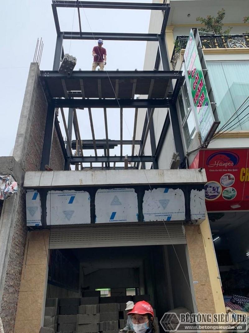 Công trình khung nhà thép tiền chế nhà 4 tầng tại Hà Nội