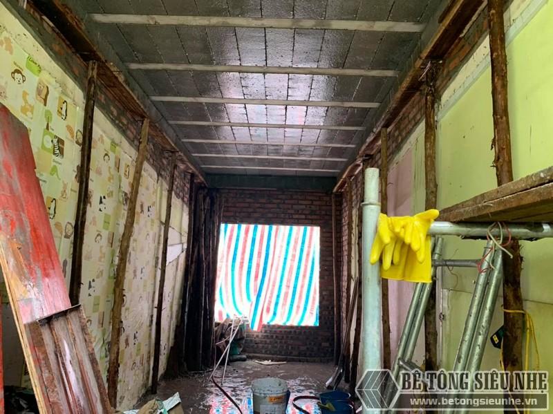Hoàn thiện trong ngày cocong trình nâng tầng lắp sàn bê tông siêu nhẹ tại Tân Mai,. Hoàng Mai, Hà Nội