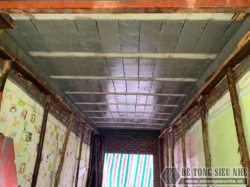 Lắp sàn bê tông siêu nhẹ tại Tân Mai, Hoàng Mai, Hà Nội - nhà anh Trung