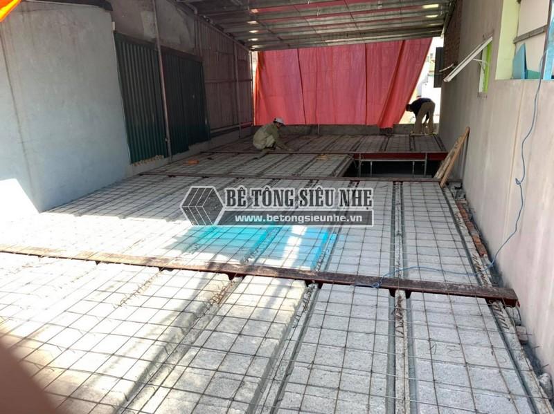 Sàn bê tông siêu nhẹ: Công trình lắp sàn bê tông tại Hải Dương