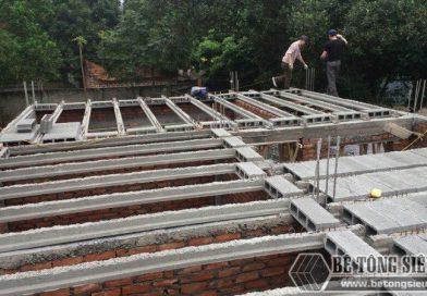 Thi công sàn bê tông nhẹ tại Sơn Tây, Hà Nội nhà anh Tín