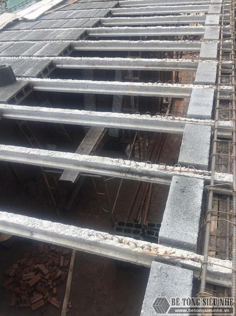 Thi công lắp ghép sàn bê tông siêu nhẹ tại nhà anh Minh ngoại thành Hà Nội - 05