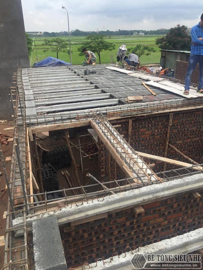 Thi công lắp ghép sàn bê tông siêu nhẹ tại nhà anh Minh ngoại thành Hà Nội - 04