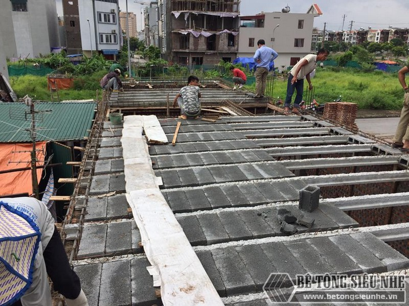 Công trình thi công sàn bê tông nhẹ tại Hà Nội