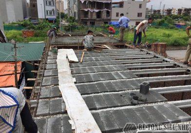 Thi công lắp ghép sàn bê tông siêu nhẹ cho công trình ngoại thành Hà Nội