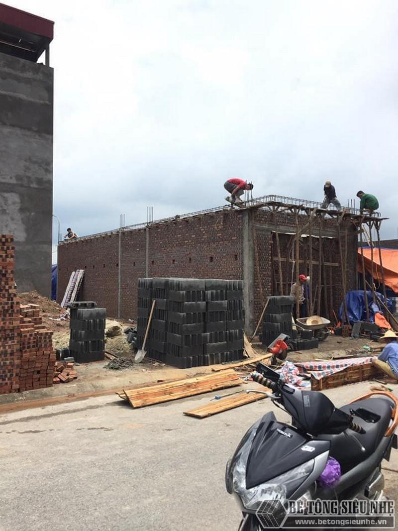 Thi công lắp ghép sàn bê tông siêu nhẹ tại nhà anh Minh ngoại thành Hà Nội - 01