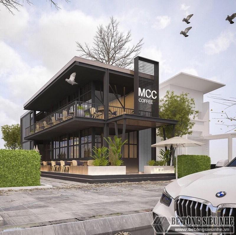Bản vẽ nhà khung thép 2 tầng - quán cafe tương lai của anh Hùng
