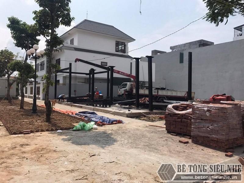 Thi công nhà khung thép giá rẻ làm quán cafe tại Thái Bình - 03