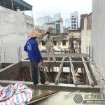 Thi công sàn bê tông nhẹ Xuân Mai tại Cầu giấy, Hà Nội nhà anh Bắc