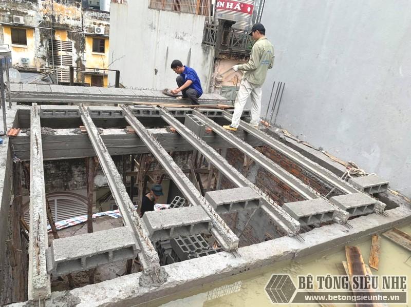 Thi công sàn bê tông nhẹ Xuân Mai tại Cầu giấy, Hà Nội nhà anh Bắc - 03