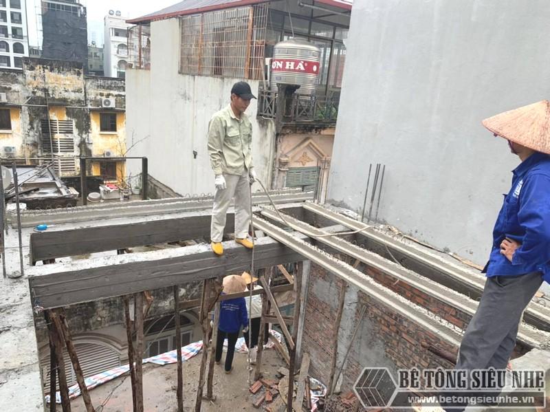 Thi công sàn bê tông nhẹ Xuân Mai tại Cầu giấy, Hà Nội nhà anh Bắc - 04