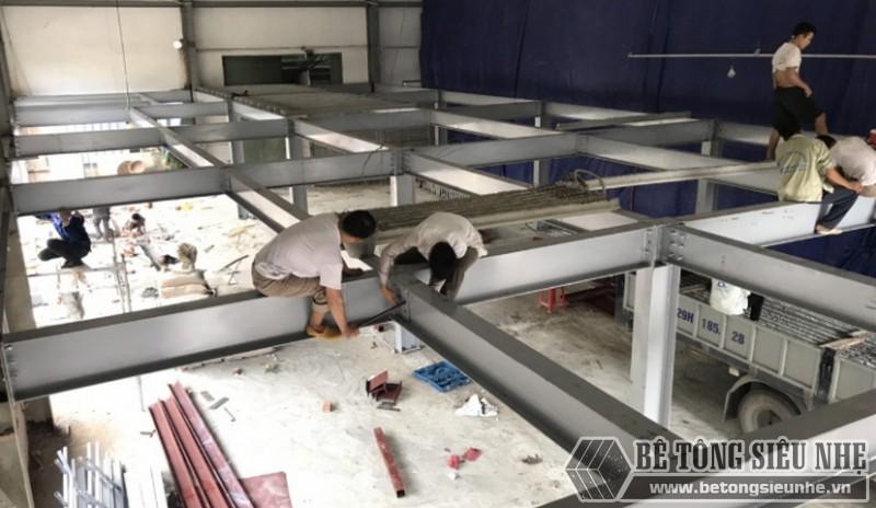 Hình ảnh dựng nhà khung thép cho xưởng may mới tại nhà anh Bắc, Nam Định - 01