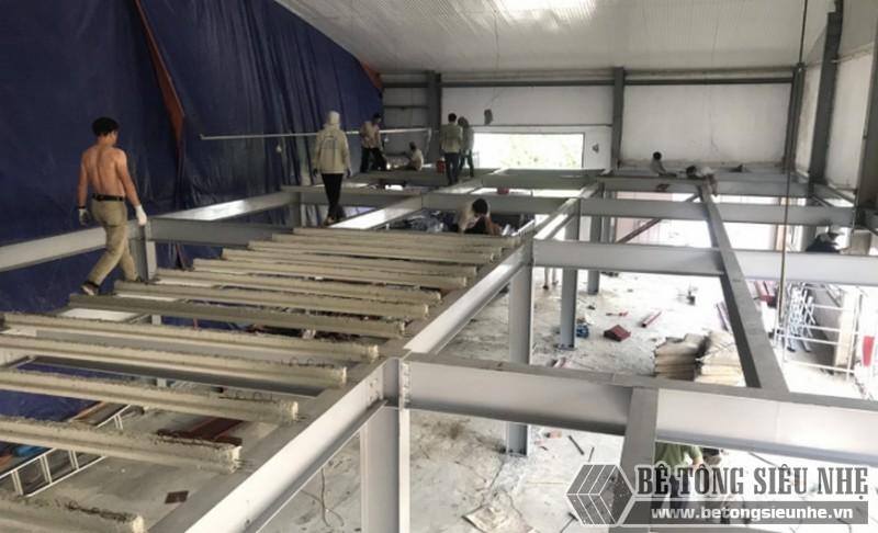Hình ảnh dựng nhà khung thép cho xưởng may mới tại nhà anh Bắc, Nam Định - 03