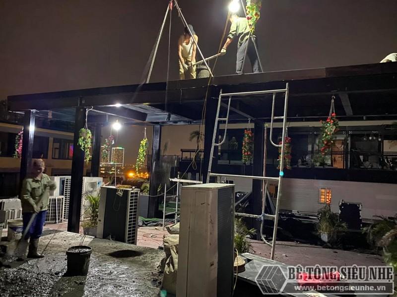 Lắp sàn bên tông nhẹ Hà Nội: hình ảnh thực tế tại quán cà phê nhà anh Hưng, Hoàn Kiếm - 02