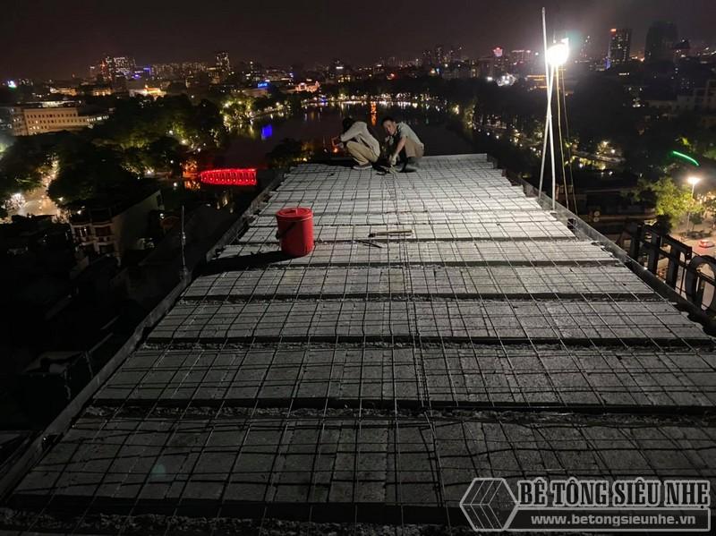 Lắp sàn bên tông nhẹ Hà Nội: hình ảnh thực tế tại quán cà phê nhà anh Hưng, Hoàn Kiếm - 04