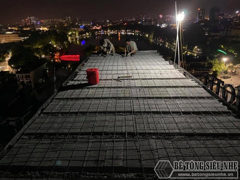 Lắp sàn bên tông nhẹ Hà Nội: hình ảnh thực tế tại quán cà phê nhà anh Hưng, Hoàn Kiếm - 06