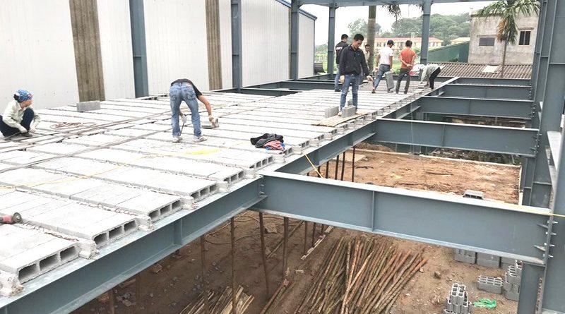 Nhà khung thép bê tông nhẹ thi công nhanh, độ bền cao