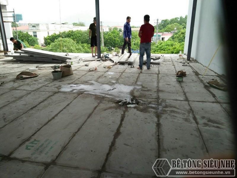 Thi công tấm sàn bê tông siêu nhẹ EPS