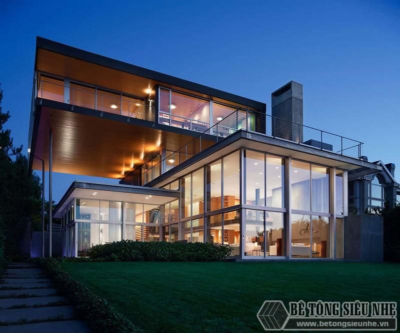 Thiết kế nhà khung thép 3 tầng độc đáo
