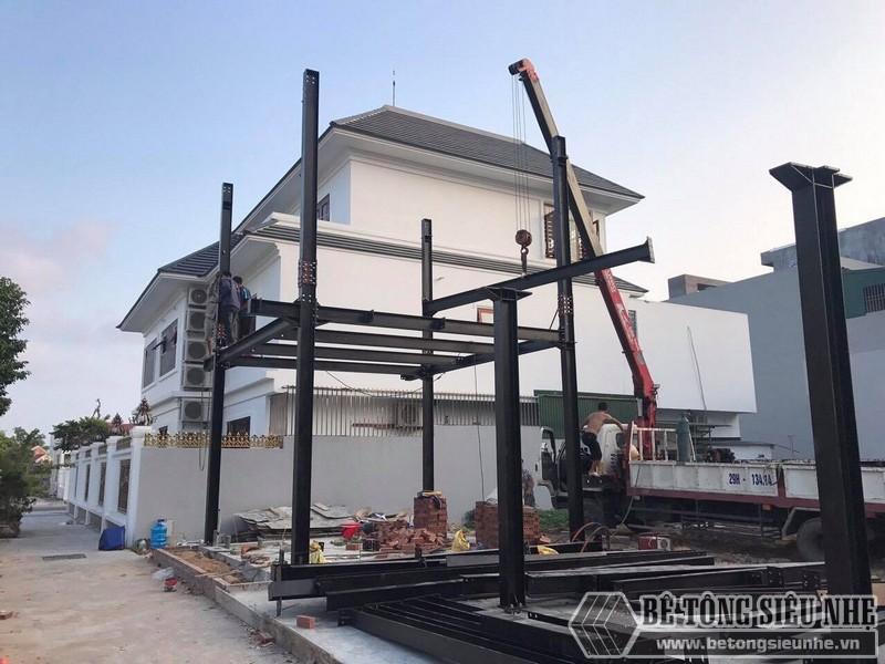 Đơn vị thi công nhà khung thép, sàn bê tông nhẹ uy tín tại Hà Nội