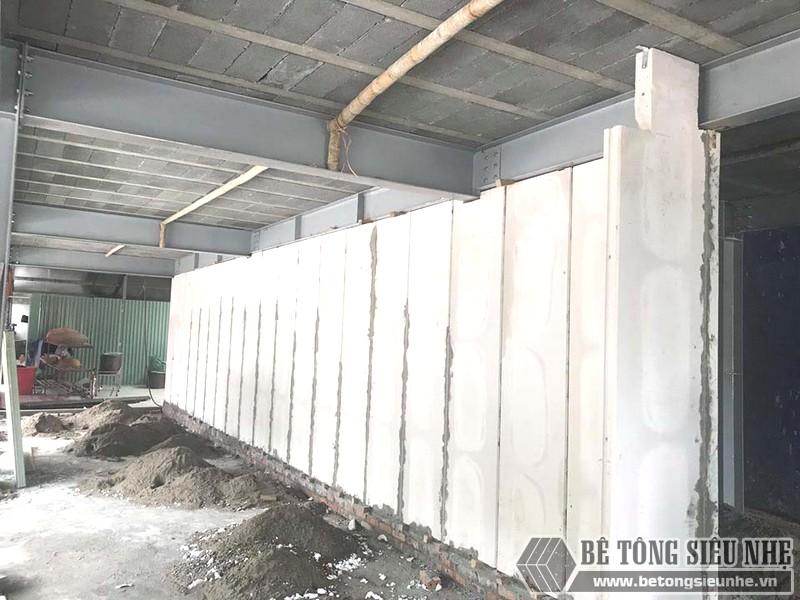 Tường lắp ghép từ các tấm tường bê tông siêu nhẹ