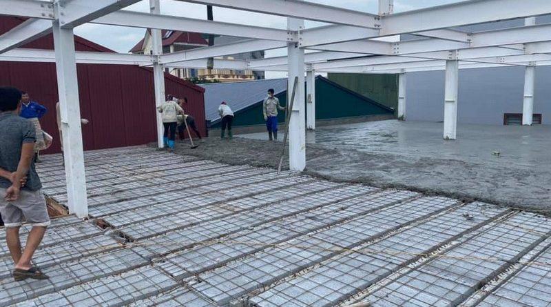 Nhà khung thép bê tông nhẹ được xây dựng chủ yếu bằng cách lắp ghép