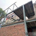 Thi công nhà phố khung thép 3 tầng tại Hoàng Mai Hà Nội